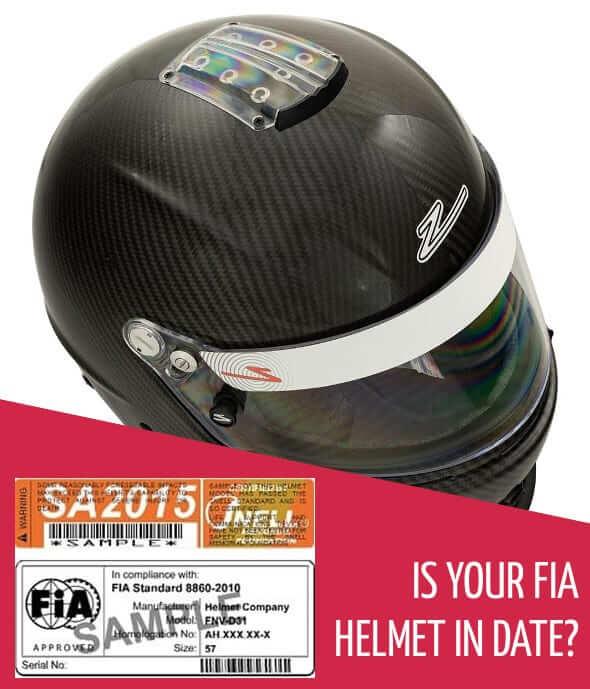 Is your FIA helmet in date?
